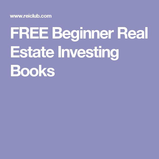 FREE Beginner Real Estate Investing Books