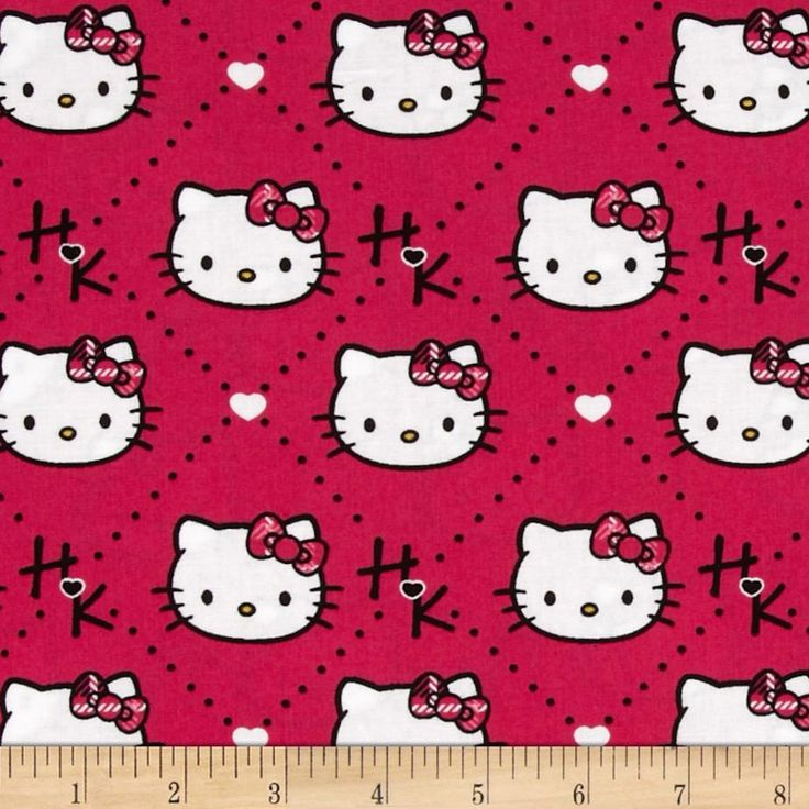 Hello Kitty Plaid Diamond Pink from @fabricdotcom  Designed by Sanrio and licensed to Springs Creative Products, this cotton print is perfect for quilting, apparel and home decor accents. Colors include pink, white, and black. Due to licensing restrictions, this item can only be shipped to USA, Puerto Rico, and Canada.
