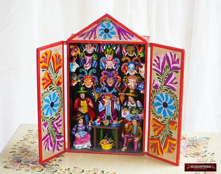 Retablo peruano hecho a mano feria de mascaras - Regalos decoracion hogar ...