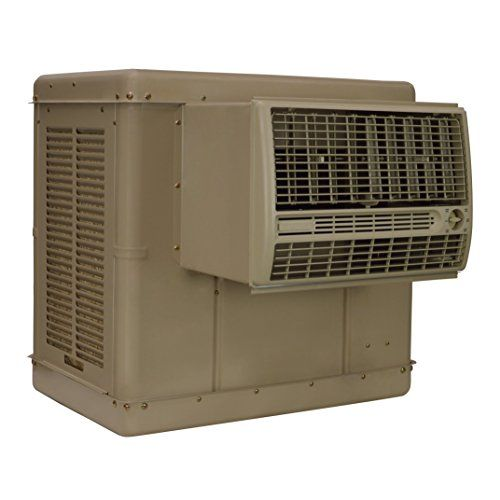 Champion Cooler Essick Air N37W 3300 CFM 2-Speed Window Evaporative Cooler  The Champion Cooler N37W Evaporative Cooler is designed for use in dry, arid climates. Un-like an air-conditioner unit using Freon and using excessive energy to cool, this heavy-duty cooler draws air from outside into the cooler and by the evaporation of water inside the unit allows the blower to push cool air into the room. They can lower indoor temperatures by as much as 15-20 Degree F. Evaporative coolers ..