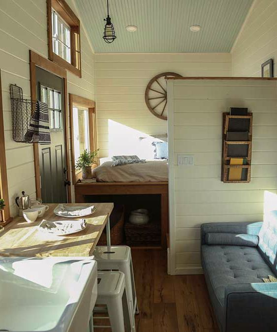 154 best tiny houses images on pinterest cottage floor for Tiny house with main floor bedroom