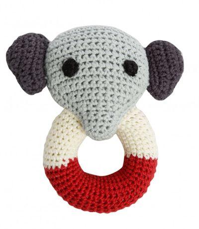 Franck & Fisher Joakim Elephant organic cotton baby rattle