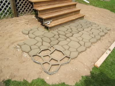 Making your own pavers from molds is easy. Made by Quikete mold only around $20 Around my pool here I come!