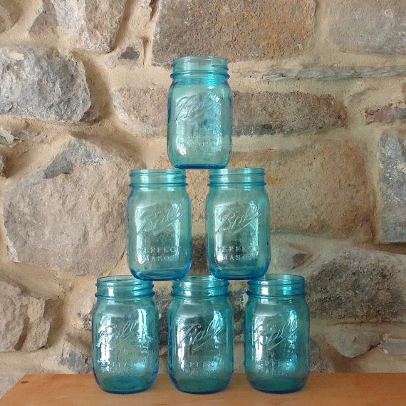 Mason Jar Drinking Glasses with lids glasses with by masonjardecor, $25.00