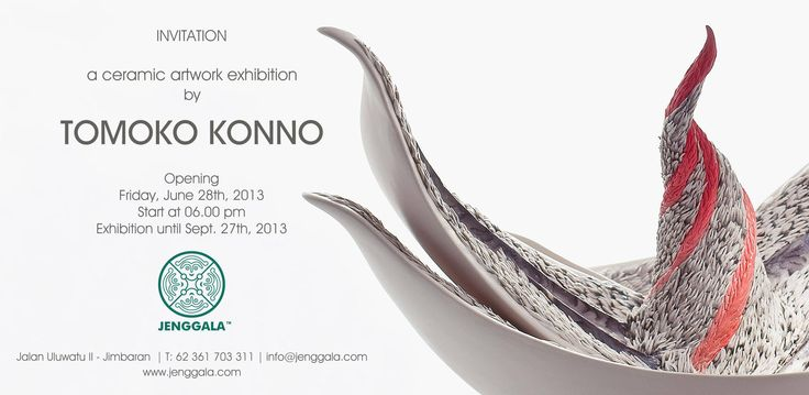 A ceramic artwork exhibition by Tomoko Konno held from 28th June to 28th September, 2013.