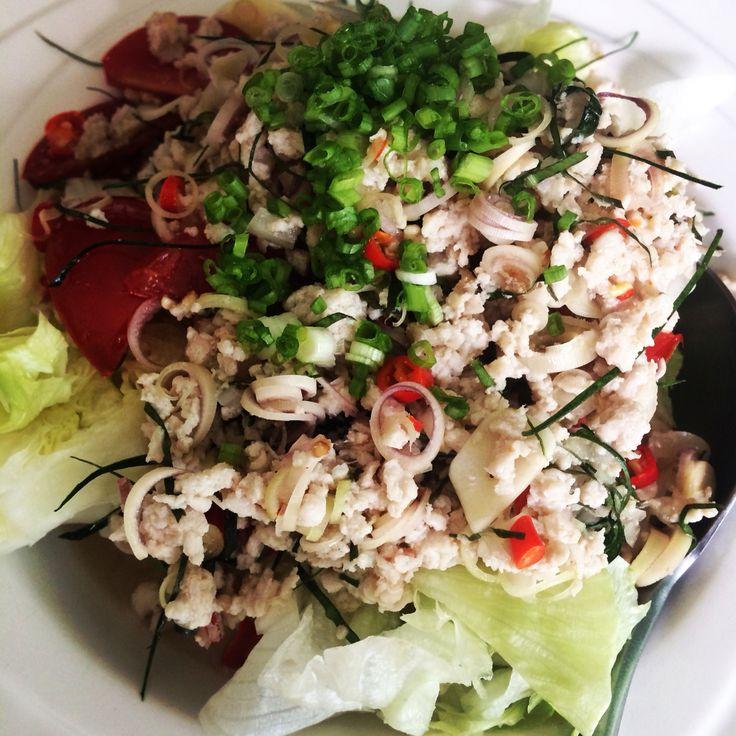 minced chicken thai salad