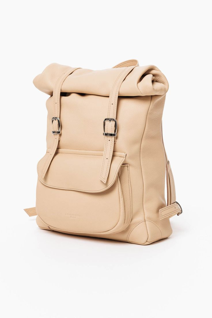 Rolled Backpack in natural by a kind of guise  - Fair Fashion