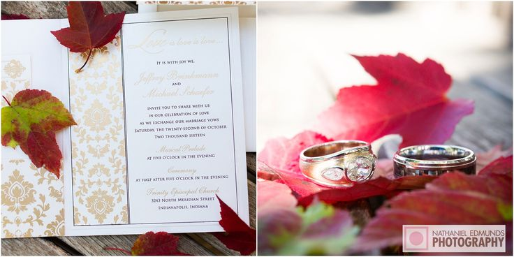 Fall leaves add a nice touch to any photo. #weddings #rings #fall #leaves #nepweddings #weddingphotography