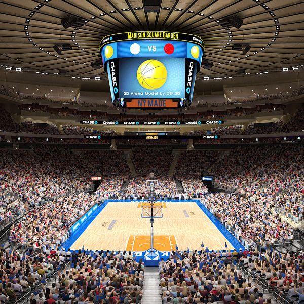 3d Madison Square Garden Arena Model Madison Square Garden