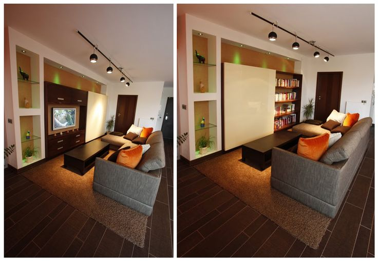 Nappali egyedi bútorral / Custom furniture in the living room