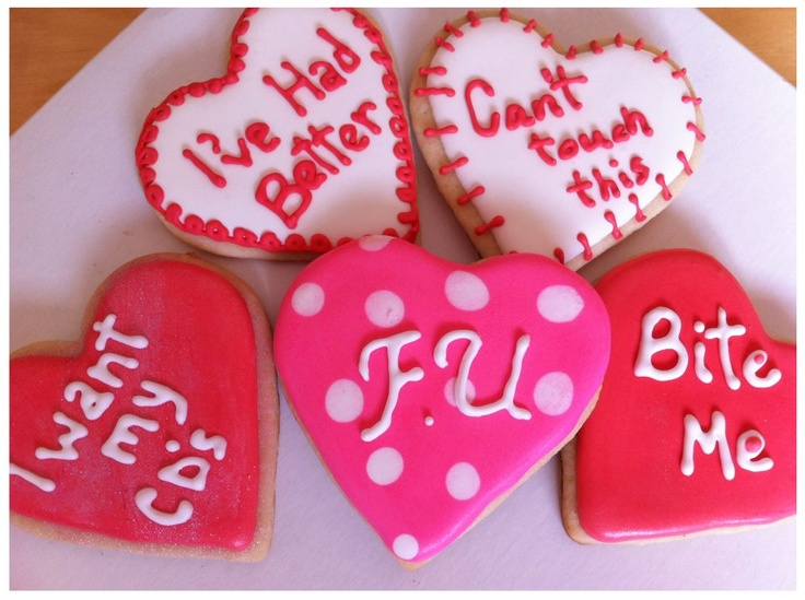Anti Valentines Day Cookies