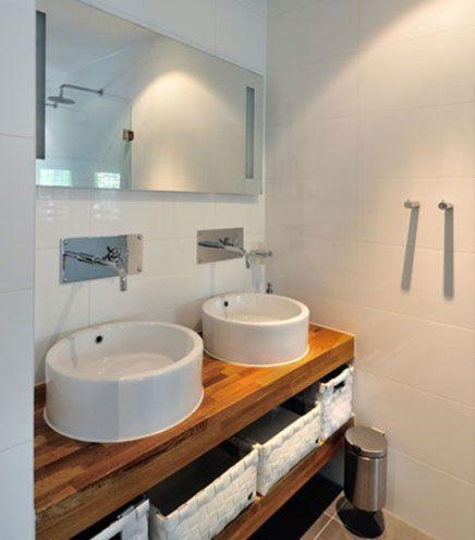 Moderne badkamer indeling