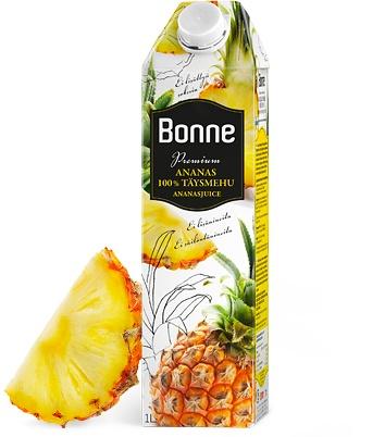 Tuote   Bonne Juomat Oy. ooh pineapple juice, yumm PD