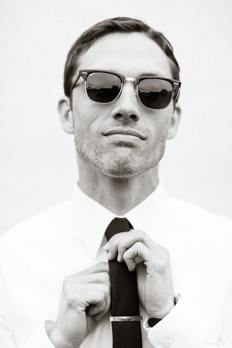 : Rayban, Men Clothing, Ties Clip, White Shirts, Men Style, Menstyle, Men Fashion, Gentleman Style, Ray Ban Sunglasses
