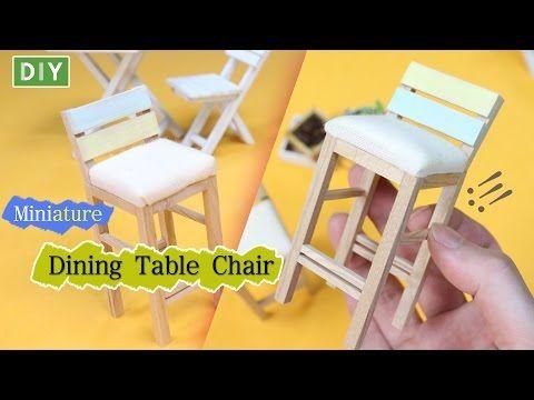 DIY How To Make Dining Table Chair - Dollhouse furniture!!(미니어쳐 가구만들기, 식탁의자!!) - YouTube