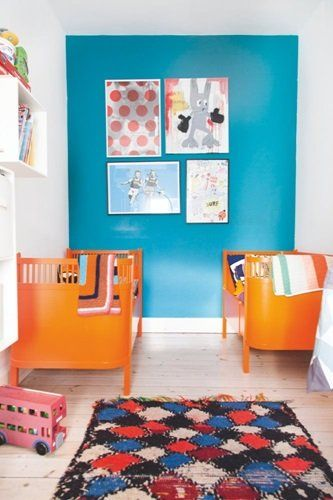 Turquoise blue wall