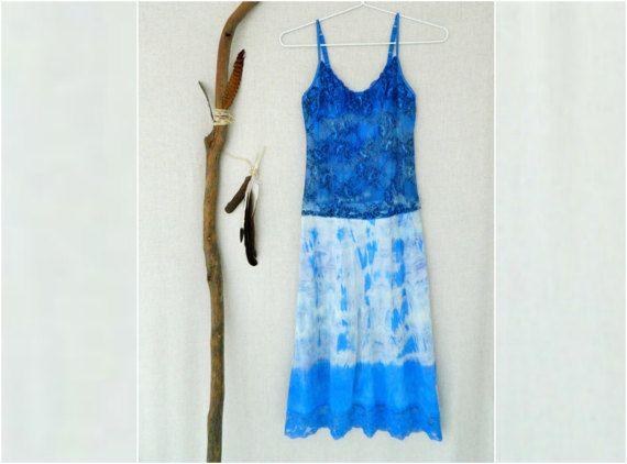 NYMPH . women's tie dye maxi dress . size 10 . by bohemianbabes
