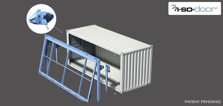 Hydroswing Hydraulic ISO Container Door Exploded View
