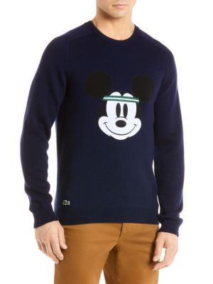 3d04c9ade7f LACOSTE Lacoste Disney Collaboration Mickey Face Sweater. #lacoste #cloth