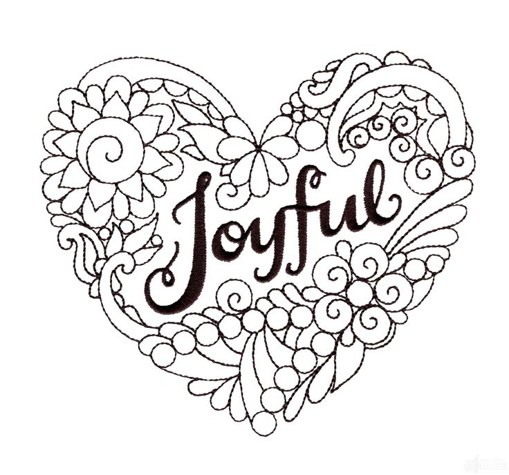 17 Best Images About Hearts Love Coloring Pages For Adults On Pinterest