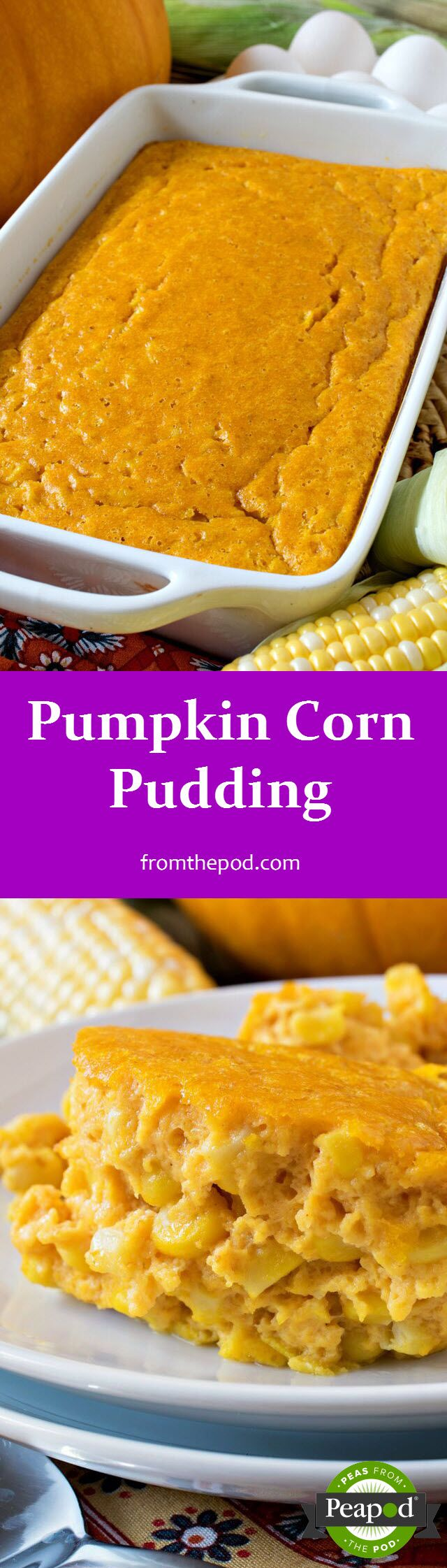 Introduce a new side for #Thanksgiving and skip the old standbys like Green Bean Casserole. We heartily recommend this Pumpkin Corn Pudding recipe from our blogger partner @afamilyfeast. It proves that you can enjoy pumpkin in more than just pie.