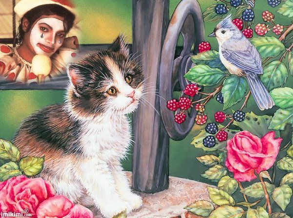 I know a clown, a kitten, and canary that's kind of hummingbird. Rejoiced my heart Changed my life A sweet emotion