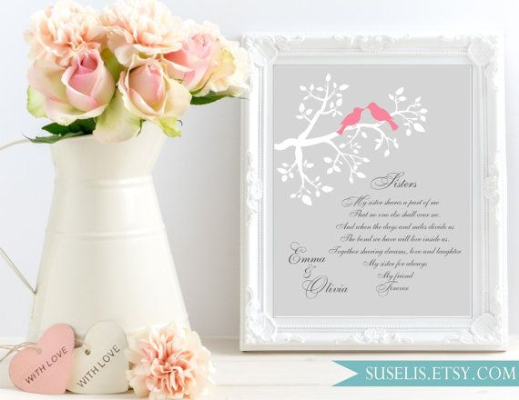 Sister Personalized Wedding Gift sign Maid of Honor by Suselis
