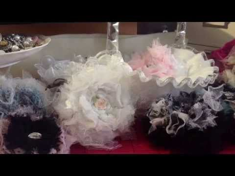 Updated Tutorial on Puffy Rosette flowers, Lavish Laces....  Secret Giveaway is now CLOSED...