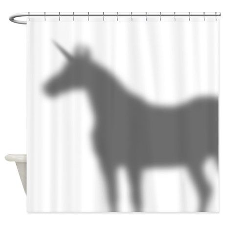 Unicorn In The Shower Curtain Shadow on CafePress.com