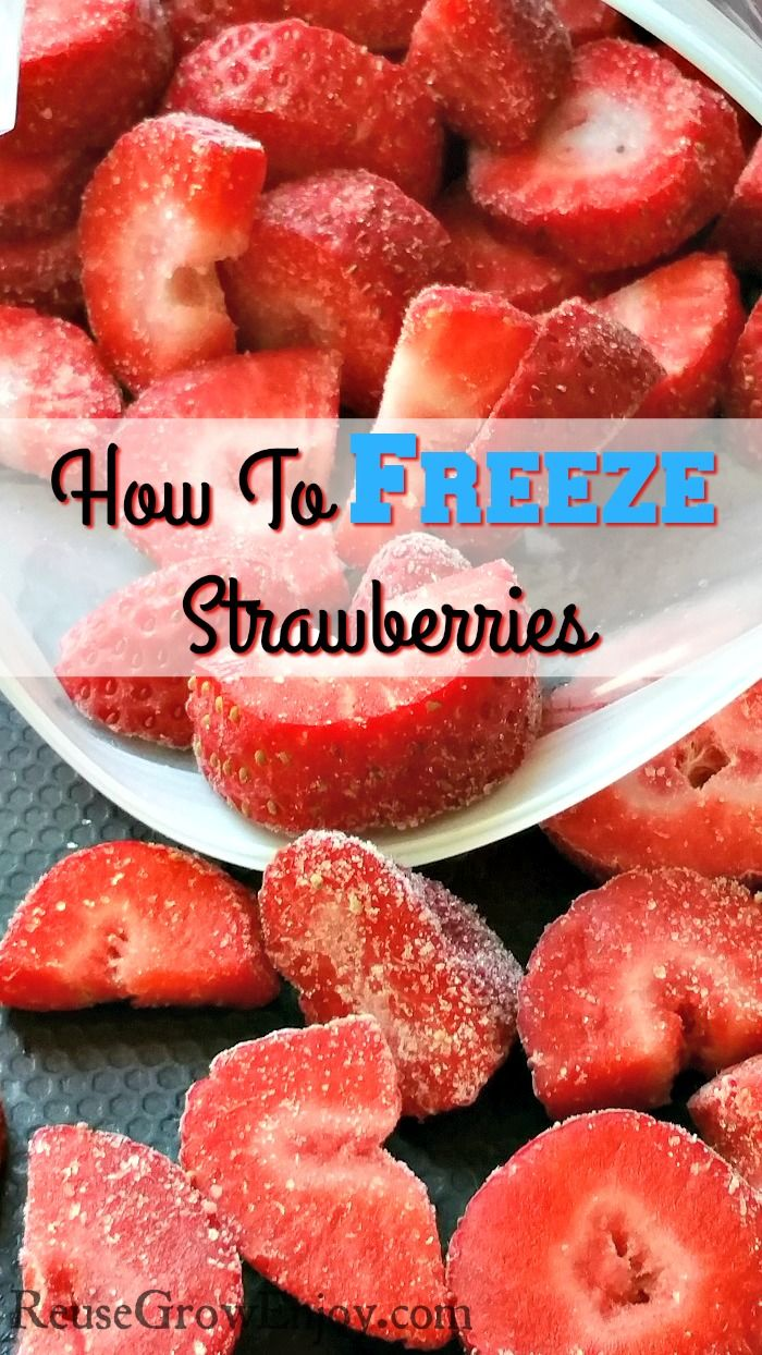 Have a ton of strawberries you don't know what to do with? Check out How To Freeze Strawberries!