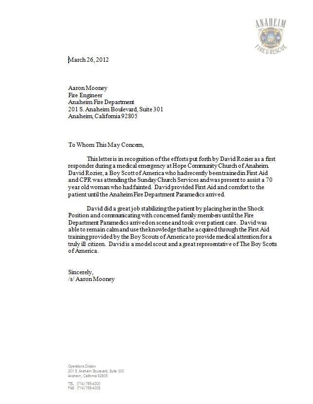 Letter From Anaheim Fire Department HttpWwwChangeOrg