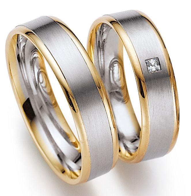 stoere ringen in geel en mat wit goud, erg mooi!  Juwelier Goudsmederij Mariska Timmer Geldermalsen