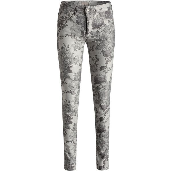 Stretchige Print-Jeans ($105) ❤ liked on Polyvore