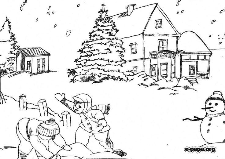 Пин от пользователя Катя Моя на доске Раскраска Зима ...