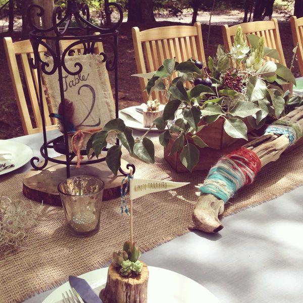 Wedding_Table_Decorkaruizawa garden Wedding_ハワイウエディング_produced by AYANO TACHIHARA Wedding Design 軽井沢ガーデンウエディング、邸宅ウエディング