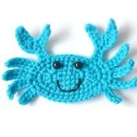 ($) Crochet Crab applique, pattern for purchase