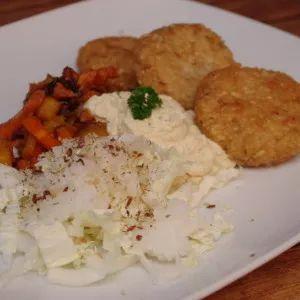 Placky z jahel, rýže a lněného semínka