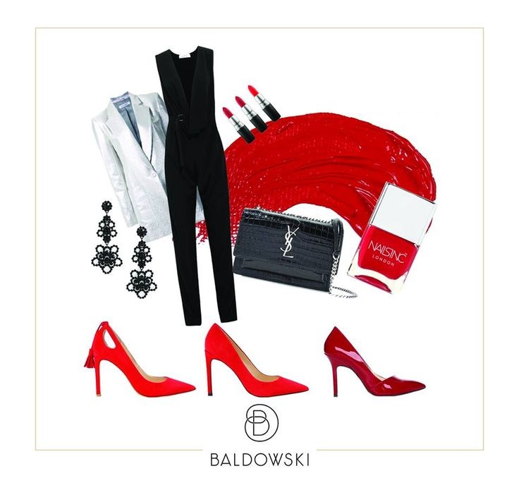 Get inspired by Baldowski #outfit #inspiration #baldowski #shoes #red #valentinesday #black #ootd