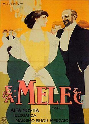 E. & A. Mele &  C., Novità, alta eleganza, - Massimo buon mercato, Napoli - Marcello Dudovich