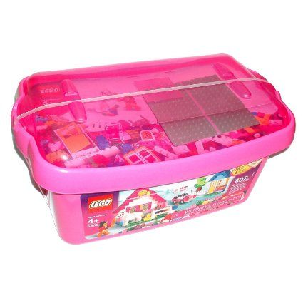 Amazon.com: LEGO Pink Brick Box Large (5560): Toys & Games