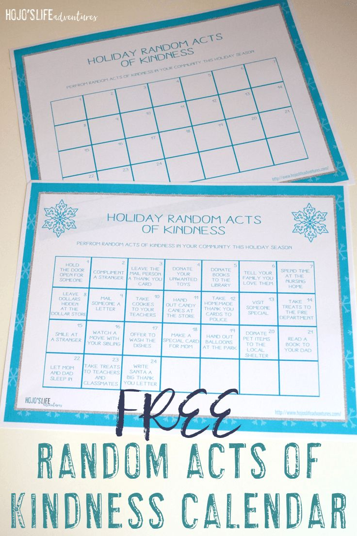 Are you looking for an Elf on the Shelf alternative this year? Then you're going to LOVE this FREE Random Acts of Kindness calendar! Choose from the pre-made or blank template to fit the needs of your family, classroom, or homeschool all December long. It's going to be a huge hit, and you'll be teaching the life lesson of kindness if a fun way!