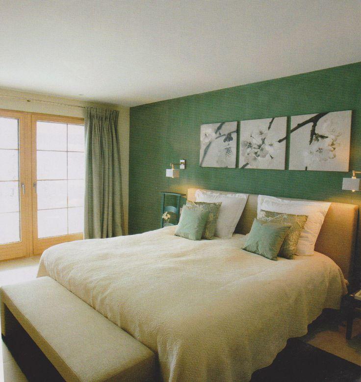 25 beste ideen over Groene slaapkamers op Pinterest