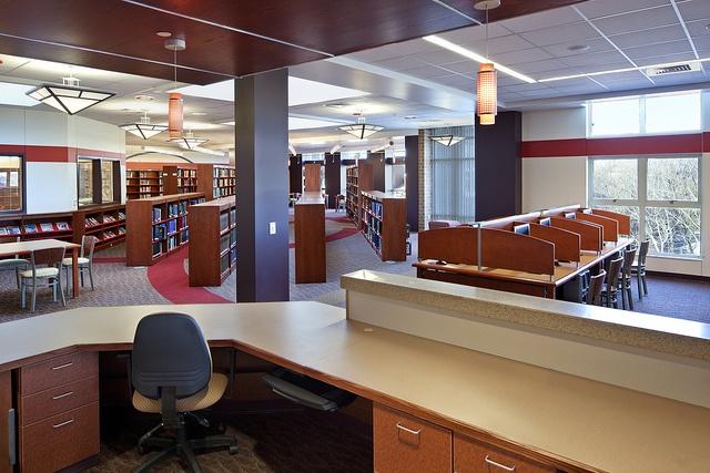Moon Area High School Library, via Flickr.