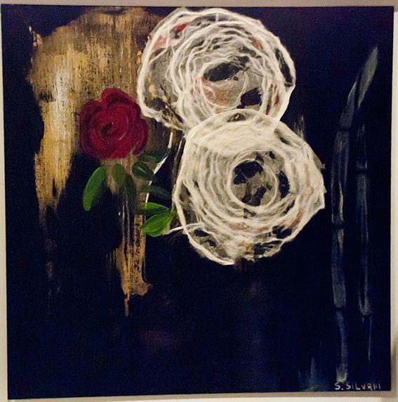 Flores - $ 880.- Acrílico 35 x 35 cm Susana Silvani