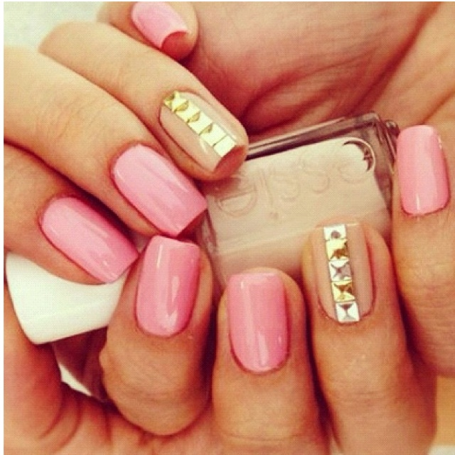 love pink and gold