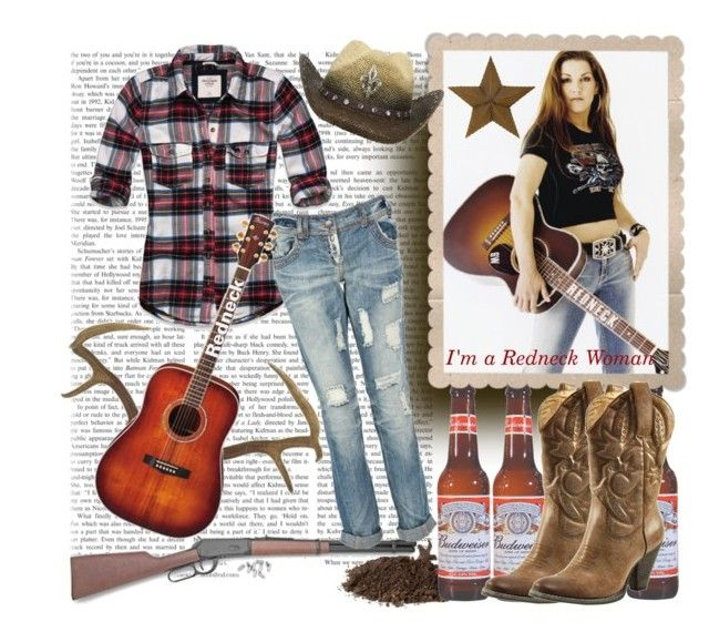 """""""G is for Gretchen Wilson!"""" by faithsnyder ❤ liked on Polyvore featuring A2 by Aerosoles, GRETCHEN, RIFLE, Very Volatile, Abercrombie & Fitch, Peter Grimm, redneck, cowboy, gretchen and gun"""