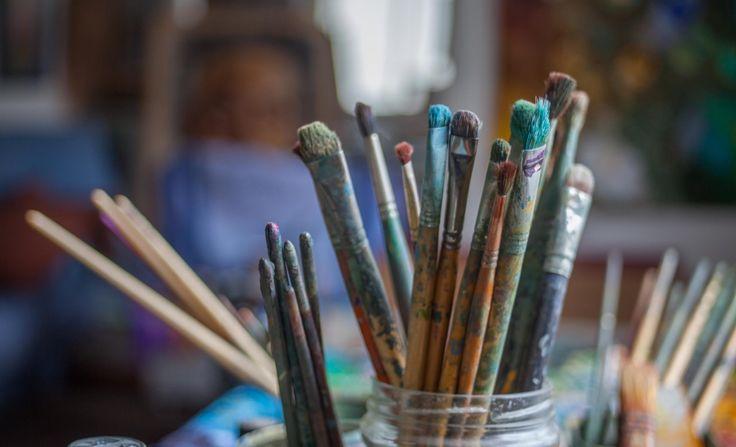 Brushes from the studio of Gerard Calvet ( artiste peintre 1926-2017) French Painter  from Montpellier.