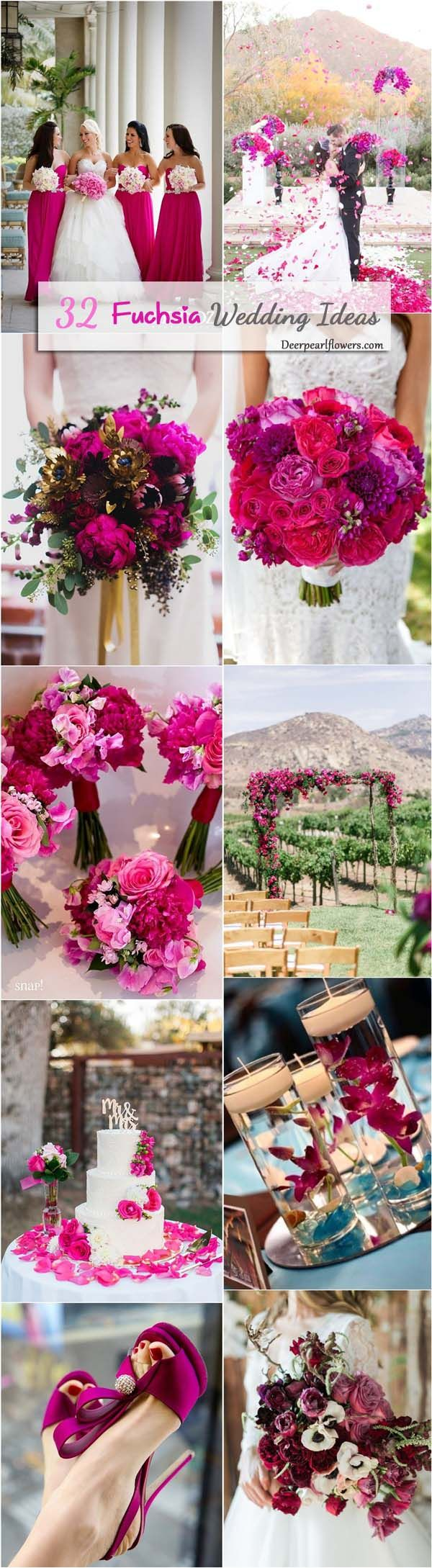 487 best wedding images on pinterest weddings amazing cakes and 30 fuchsia hot pink wedding color ideas junglespirit Image collections