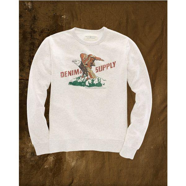 Eagle Graphic Sweatshirt ($50) ❤ liked on Polyvore featuring tops, hoodies, sweatshirts and eagles sweatshirt