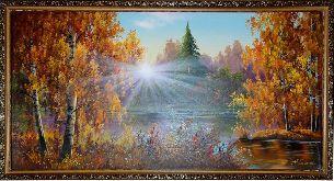 Осеннее утро - Осенний пейзаж <- Картины маслом <- Картины - Каталог | Универсальный интернет-магазин подарков и сувениров